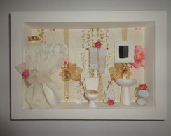 Quadro Decorativo Banheiro Chic-03