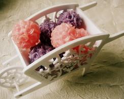 Carrocinha Proven�al com Mini Bouquets