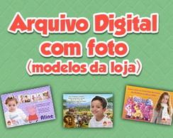Arte Digital com foto (modelo da loja)
