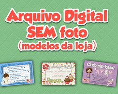 Arte Digital SEM foto (modelo da loja)