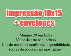 Impress�o de Convite 10x15