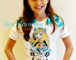 camiseta lagoona monster high + tiara
