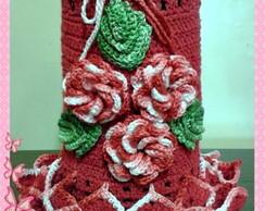 Capa para t�rmica Flor Viciadas  croch�