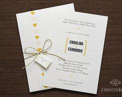 Convite Casamento Sonho Papel Branco