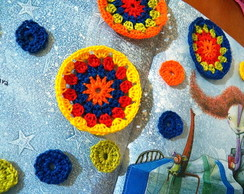 C�rculos em crochet