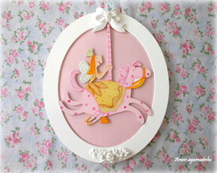 Quadro Oval Princesa Rosa