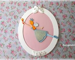 Quadro Oval Princesa Azul