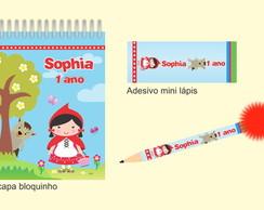 Kit Bloquinho + Mini L�pis - Chap�uzinho