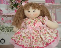 Bonecas de Pano floral