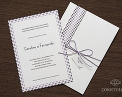 Convite Casamento Eixo Papel Branco