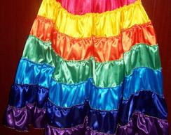 Saia Cigana Com 7 cores de 7,5m de roda