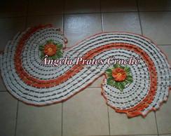 Tapete espiral cru com laranja