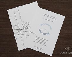 Convite Casamento Arco Papel Branco