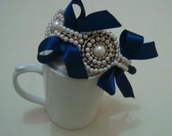 Tiara casquete azul marinho