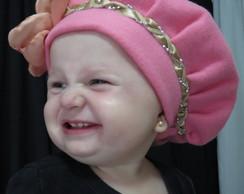 Boina infantil em soft Lara