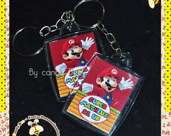 Chaveiro Personalizado Mario Bros