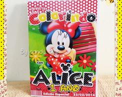 Revista Personalizada Minnie Mouse