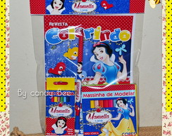 Kit Colorir + Massinha Branca de Neve