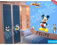 Kit Infantil Mickey - Brinde Nome