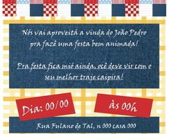 Convite Festa Junina - Digital