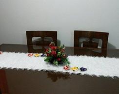 Caminho de mesa em decore 1,60 x 0,45
