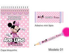 Kit Bloquinho + Mini L�pis - Minie