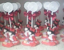 10 lembrancinhas Minnie Baby Biscuit