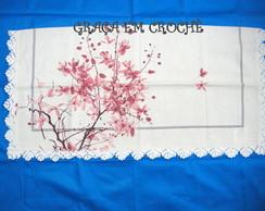 *NOVA* Toalha de Ch� Flor de Cerejeira