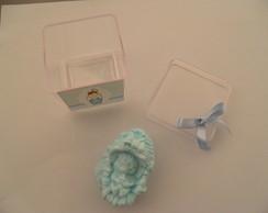 caixinha acr�lica  beb� no bercinho azul