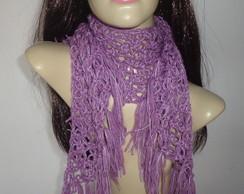 cachecol feminino em croch�
