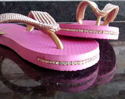 Chinelo Personalizado Top Strass lateral