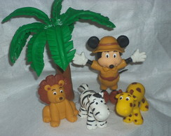 Topo de bolo Mickey Safari