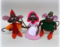 Trio de Ratinhos em feltro