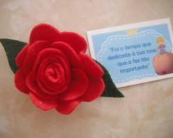 Rosa em feltro Pequeno Pr�ncipe