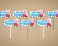 Peppa Pig - Toppers - 15 Unidades