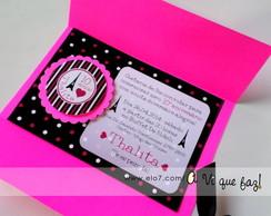 Convite Pink e Preto
