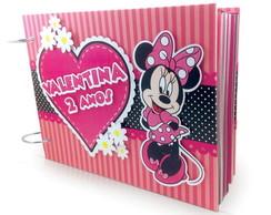 �lbum com caixa Minnie Rosa