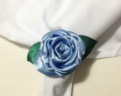 Porta Guardanapo De Rosa -Azul hort�ncia