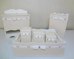 Kit Higiene laqueado branco