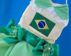 Lindo vestido Brasil Bandeira