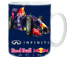 Caneca de Porcelana Red Bull Racing