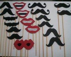 Bocas e Bigodes - Kit Festa 20 pe�as