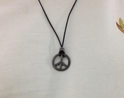 Colar pingente s�mbolo da paz