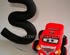 Vela 14 cm Carros Disney (personalizada)
