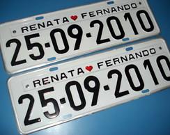 Placa de Carro Personaliza Adesivada