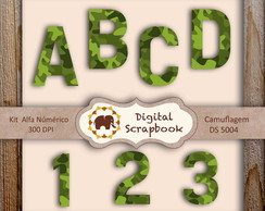 Kit Scrapbook Digital - CAMUFLAGEM
