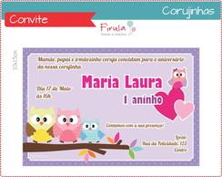 Convite Digital Corujinhas