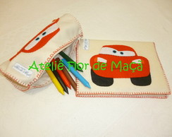 Capa de Caderno e Estojo - Kit Infantil