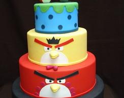 Bolo Cenogr�fico - Angry Birds