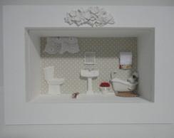 Quadro Banheiro com Vidro